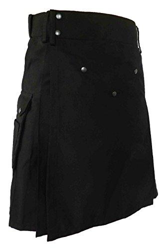 UTKilts Ultimate Utility Kilt with Comfort Waist (50, Black)