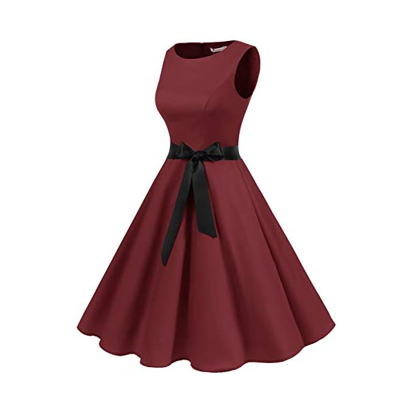 6161f895f2a HomeFashionWomen s Gardenwed Women s Audrey Hepburn Rockabilly Vintage  Dress 1950s Retro Cocktail Swing Party Dress