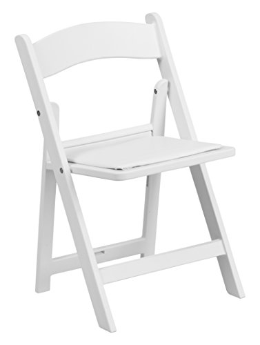 FLASH Furniture 11 Pk. Kids White Resin Folding Chair wit...