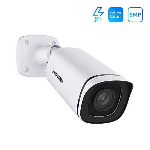 H.VIEW POE IP POE Camera 5MP Full time Color Night Vision Camera Outdoor Video Surveillance – 4mm Lens, IP67 Weatherproof, Onvif, Support Human Body Detection