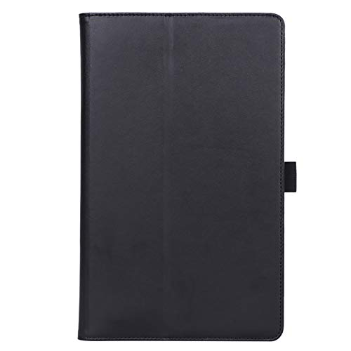 Scheam Leather Wallet Case Compatible for Samsung Galaxy Tab A 10.1 T510 T515 Case, Magnetic Closure Snap Flip Protective Tablet Case with Stand and Auto Wake/Sleep Feature, Black