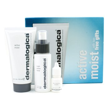 Quench Thirsty Skin Set: Active Moist 100ml + Multi-Active Toner 50ml + Skin Hydrating Booster 7ml 3pcs