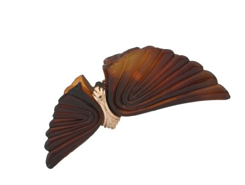 Caravan Tortoise Shell Wings Accented With Gold Decoration Combing A Wonderful Hair Claw