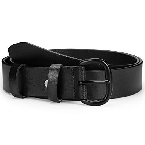 JASGOOD Fashion Women Leather Belt Casual Designer Belt Jeans Dresses Waist Belt with Oval Pin Buckle ()