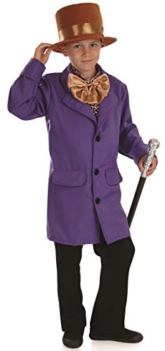 Kids Willy Wonka Costume Charlie and The Chocolate Factory Outfit - Large -