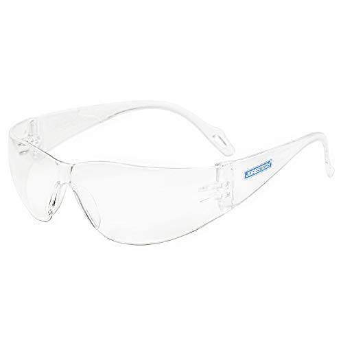 JORESTECH Kids Safety Glasses UV Protection Anti Scratch Clear Frameless Glasses, Meets ANSI Z87+ Standards, Eye Protection Activewear (LS-375-CL) (1 Pair)
