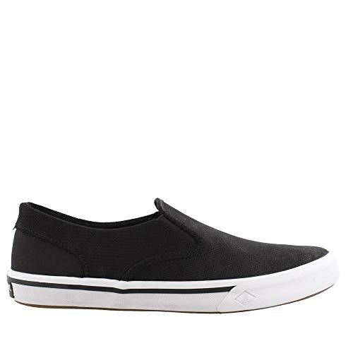 Sperry Top-Sider Men's Striper Ii Slip-On Sneaker, Black Leather, Size 10.5