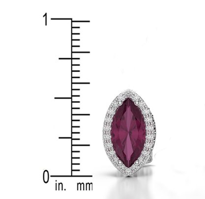 Or blanc/or/Rose/Jaune/Or/Platine forme marquise Emeraude et Diamant Boucles d'oreilles ager-1067-vsgh