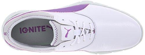 Puma Donna Ignite Golf Shoe Bianco / Viola Cactus