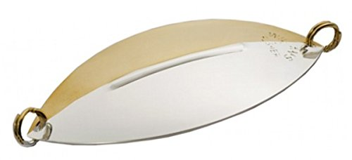 Williams Flasher 2 - Half & Half Mirror (Silver & Gold) - With Siwash Hook - F2H-SS - 3-3/8