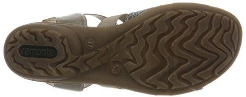 antique schwarz cigar R3644 Oro Sandali Con Zeppa Donna steel 25 Remonte 8w0aqHx