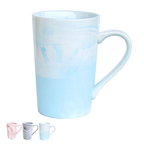 - Marble Ceramic Coffee Mug, Blue Marble Cup, Gift for Women, Girls, Wife, Mom, Grandma, 13 Ounce/380 Milliliters, 1 Pack