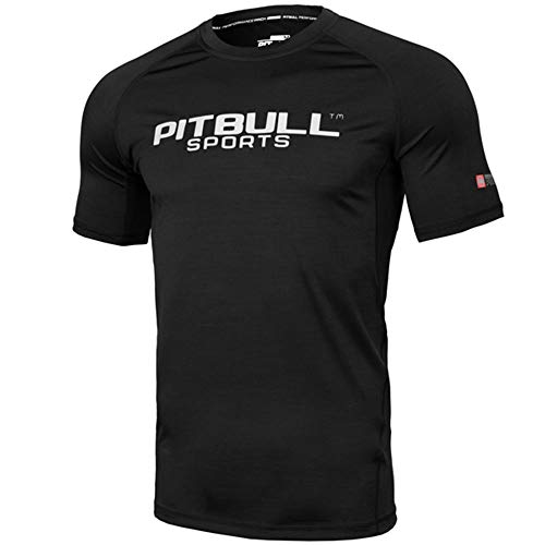 Pit Bull West Coast Rashguard, S/S, Performance, schwarz