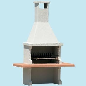 Barbacoa Beton carbone-legna bloque prefabbricato de hormigón cm.L180 x P90