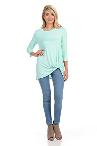 Pastel by Vivienne Women's Tunic Top With Knot Detail X-Large - Top Knot Neckline