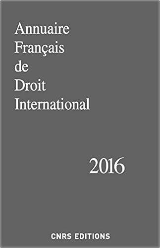 Annuaire Français de Droits International 2016