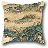 Oil Painting Tomioka Tessai - Mt.Penglai (Mountain Of Immortals) Pillowcase 18 X 18 Inches / 45 By 45 Cm Best Choice For Coffee House,lover,shop,outdoor,adults,father With Twice Sides ()