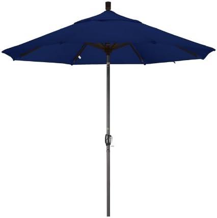 California Umbrella 9-Feet Olefin Fabric Aluminum Push Button Tilt Market Umbrella