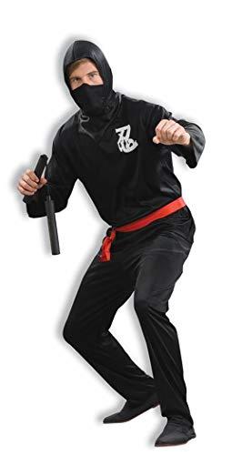 Forum Novelties Men's Ninja Costume, Black,