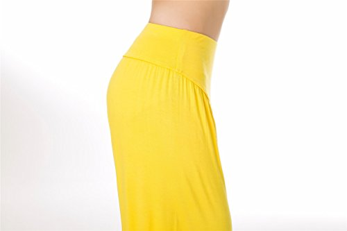 Yellow e donna o Fit per Spandex Modal Lunghi Loose SIMYJOY morbido Yoga Pilates Pantaloni da Leggings gZ5qw8