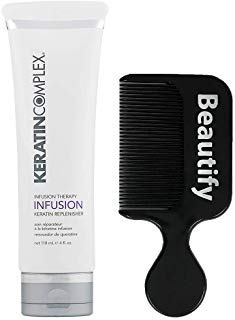 Keratin Complex Infusion Therapy Keratin Replenisher 4 Ounce With Beautify Comb