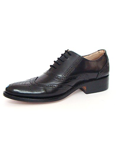 Asm Handmade Goodyear Welted Black Brogue/Oxford Dress Leather Shoes With Argentina Leather Sole, Leather Insole, Fully Leather Lining and PU Foot Pad For Optimum Comfort For Men. Article H101 (15) (Shoe Brogue Welted)