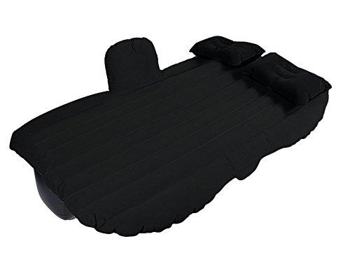 EGI Universal Dark Black Inflatable Car Mattress for Back Seat of Sedan, SUV, Pickup Trucks, Mini Van, and Semi Trucks (Air Sedan)