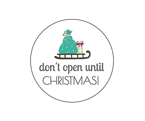 Amazon com: Don't Open Until Christmas Stickers - Set of 12: Handmade