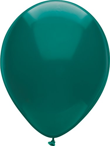 PartyMate 76521 Made in the USA Royal Rich Color 12-Inch Latex Balloons, 72-Count, Deep Turquoise