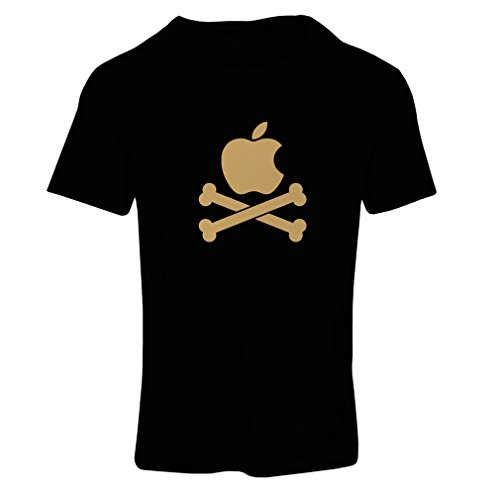 Price comparison product image N4269F T shirts for women Funny apple and Bones (X-Large Black Gold)