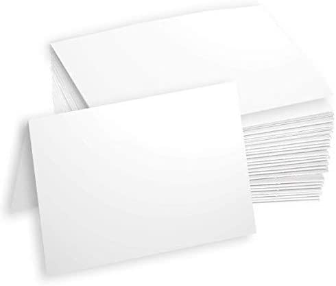 4.25 x 5.5 100 Cards Greeting Cards for Card Making Heavyweight Blank White A2 Folded Note Cards Thick 80lb Stock Inkjet//Laser Printer Compatible