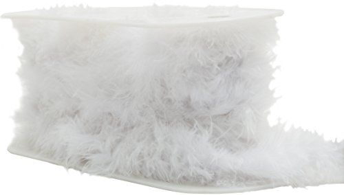 White Marabou Trim - Wrights Feather Boa, 1-1/2-Inch by 10-Yard, White