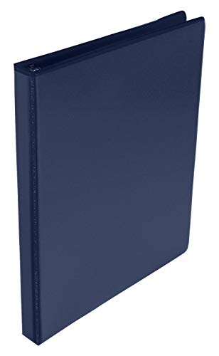 School Smart Polypropylene Round Ring View Binder, 1/2 Inch, Blue ()