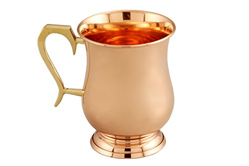 Melange 100% Authentic Copper Royal Moscow Mule Mug, Size-16 Oz, Set of 4 Mugs by Melange