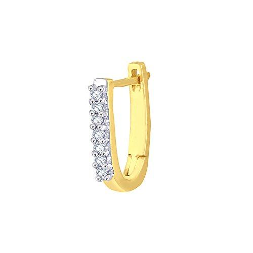 Giantti 14carats Diamant pour femme Créoles boucles d'oreilles (0.084CT, VS/Si-clarity, Gh-colour)
