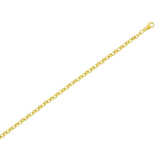 Ysora - Collier En Or Jaune Avec Mailles Jaseron Ovales - 750 ‰ - 40cm