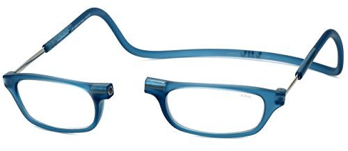Clic Magnetic Reading Glasses in Frosted-Blue Jeans +2.25