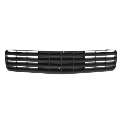 CarPartsDepot, Front Bumper Grill Grille New Raw Grey Plastic w/o Fog Lamp Hole Assembly, 400-153163 GM1200323 14076058