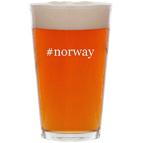 #norway - 16oz Hashtag All Purpose Pint Beer Glass