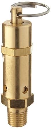 "Kingston 112CSS Series Brass ASME-Code Safety Valve, 300 psi Set Pressure, 1/4"" NPT Male"