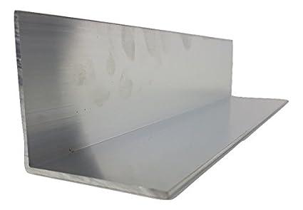 Perfil de aluminio, chapa reluciente, 60 x 60 x 5 x 1500 mm, 5000