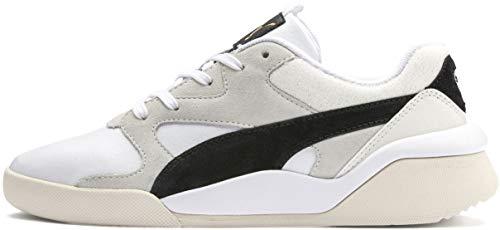 - PUMA Women's AEON Heritage Sneaker White Black, 8.5 M US