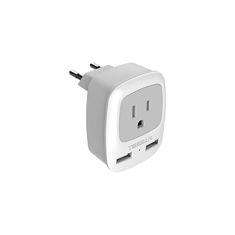 European Travel Plug Adapter, TESSAN Uni