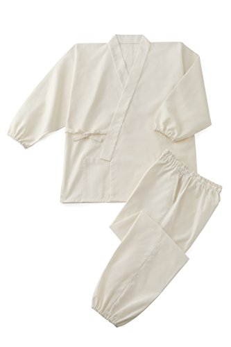 Cotton Blend Plain Weave Summer Samue  Ivory L by Tozando