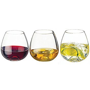 (Dartington www. tumbler 3 pack hand made contemporary stemless wine glass whiskey wine soft drinks)