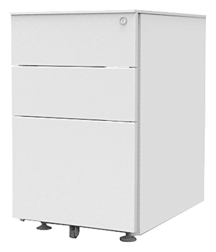 Simply Office PED600WHT 595 x 395 x 520 mm Under Desk Pedestal with 2 Personal/Filing Drawer - White