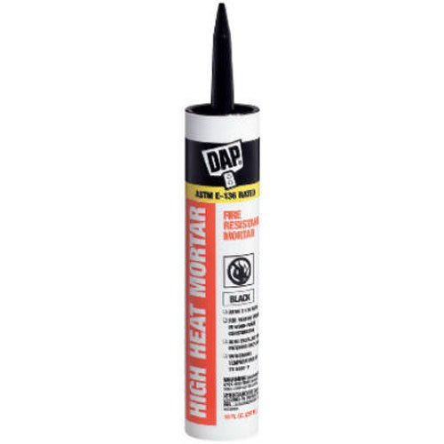 Dap 18854 High Heat Mortar Raw Building Material, Black