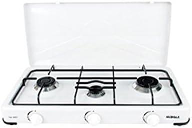 amara-global Cocina de gas con 3 fuegos, para camping NG3007