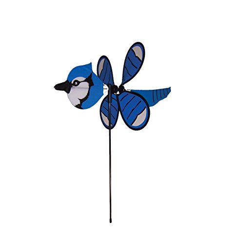 In the Breeze Baby Blue Jay Garden Spinner (Lawn Ornaments Bird)