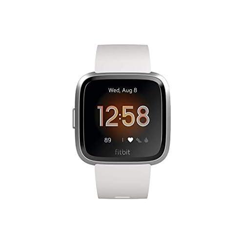 chollos oferta descuentos barato Fitbit Versa Lite Reloj Deportivo Smartwatch Adultos Unisex Blanco Plata Aluminio Talla única